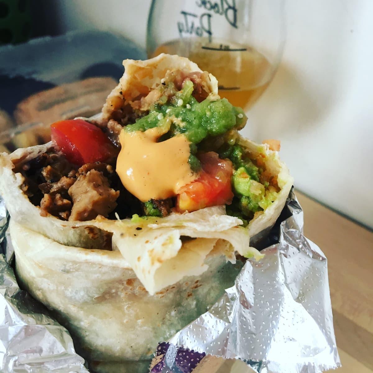 fully loaded burrito from cena vegan in la