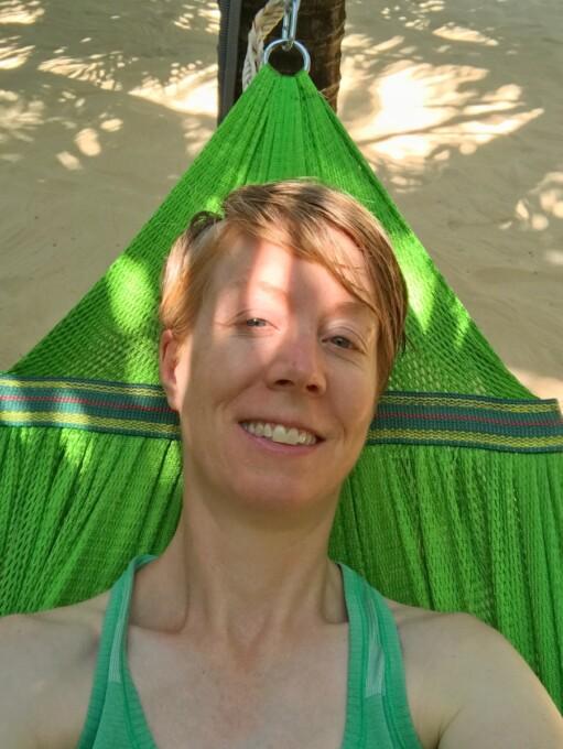 woman relaxing in a hammock vietnam