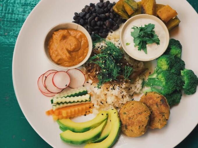 salad plate from prem vegetarian