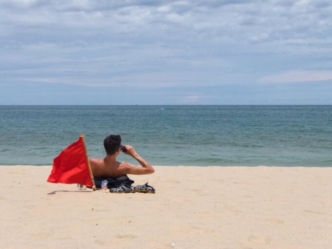 stephen on the beach in mui ne vietnam
