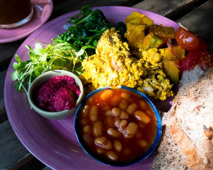 vegan breakfast plate from rosies
