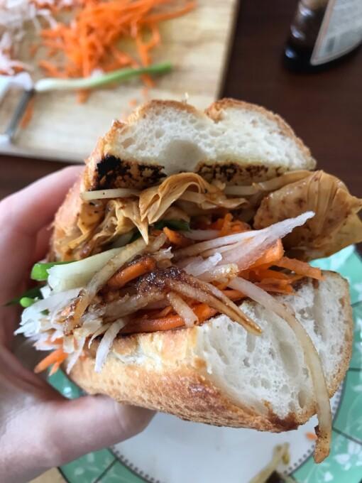 stuffed banh mi sandwich