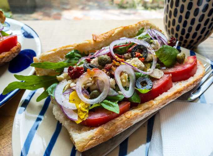 vegan sandwich in saigon