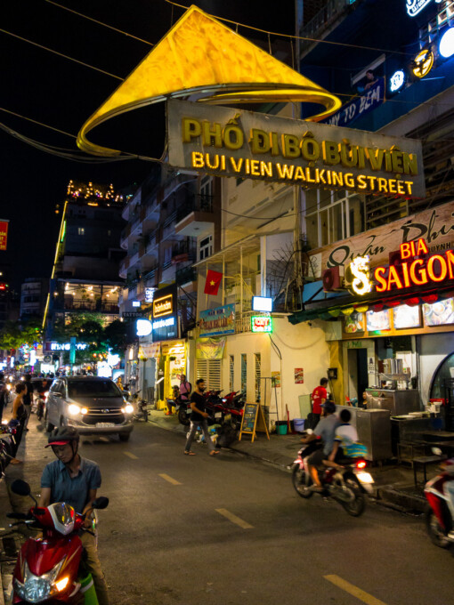 bui vien walking street in saigon