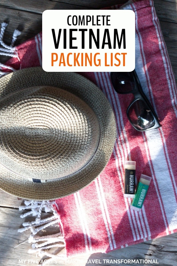 Looking for a Vietnam packing list? We've been there 7 times so far and provide the exact list of things you need to pack for the perfect trip! Click to get packing. #vietnam #packing #travel #adventure #transform #myfiveacres