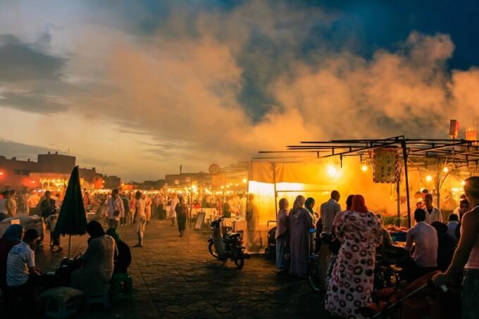 night market in morocco