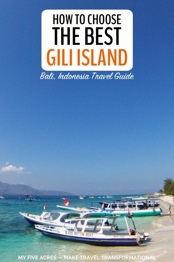 pinterest image for how to choose the best gili island