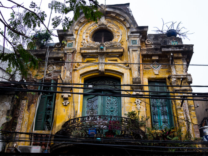 colonial building in hanoi