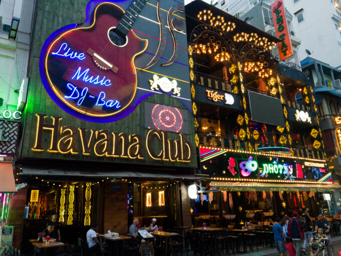 havana club on bui vien street in ho chi minh city
