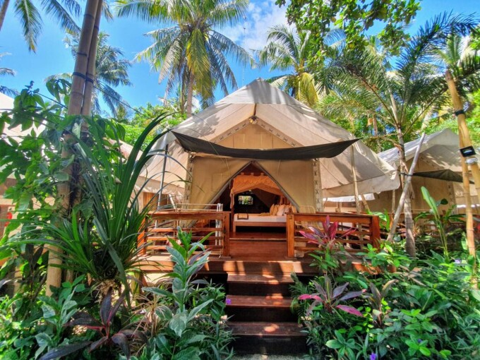 eco friendly luxury tent at cocoteraie ecolodge
