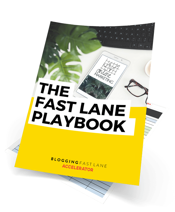 cover of the blogging fast lane playbook
