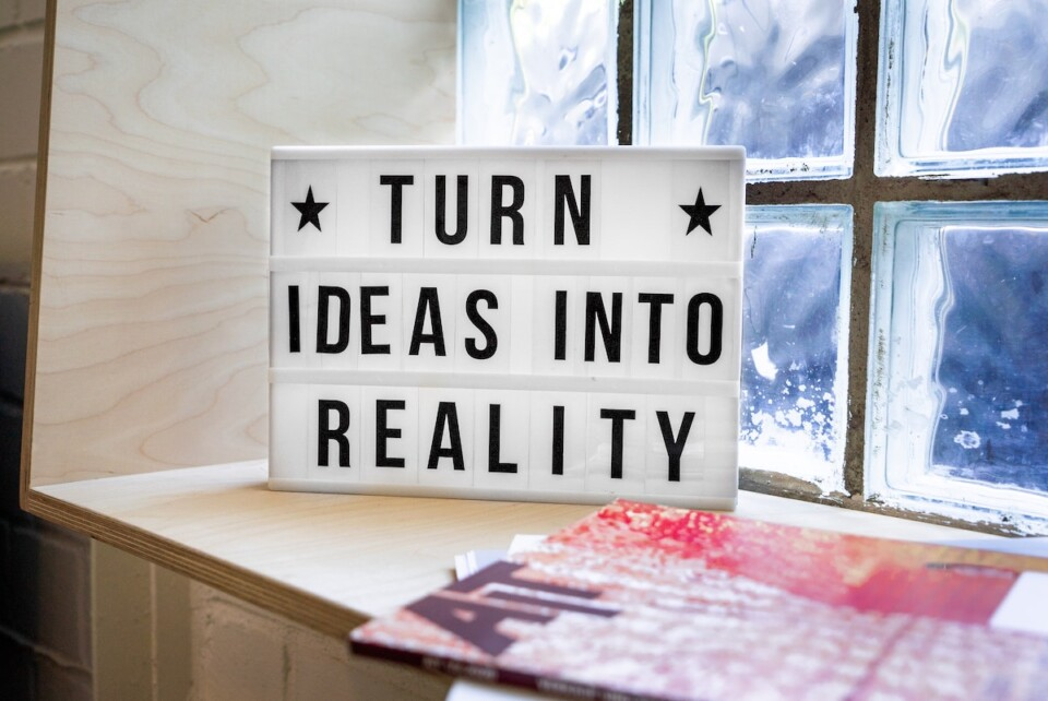 picture of a sign that says turn ideas into reality