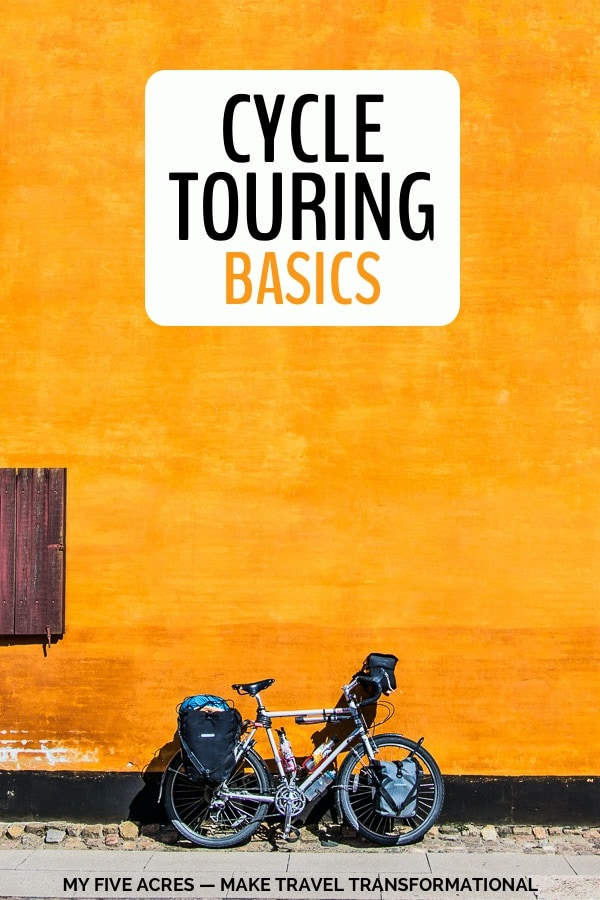 cycle touring basics pinterest image