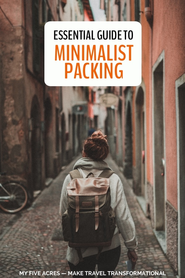 pinterest image for minimalist packing guide
