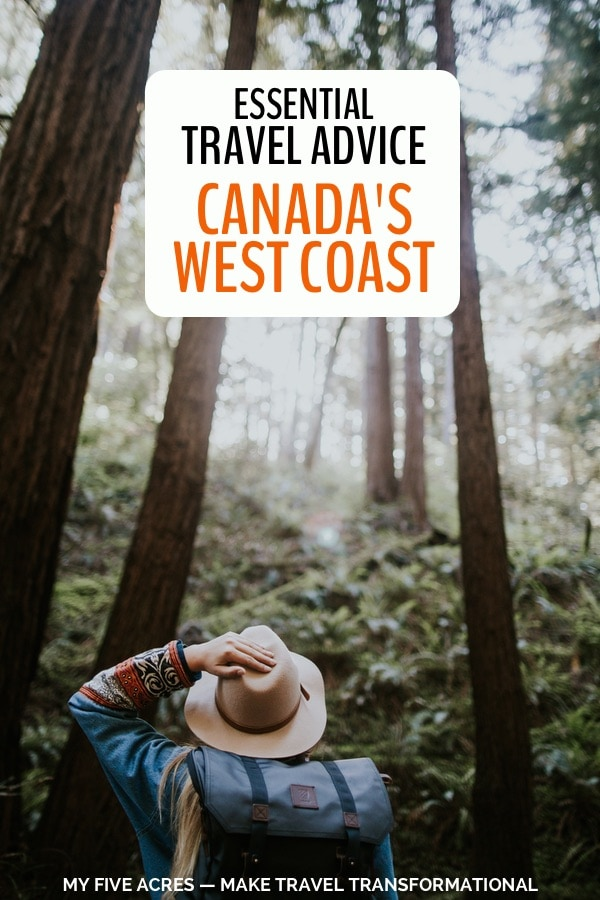 west coast canada travel advice pinterest image