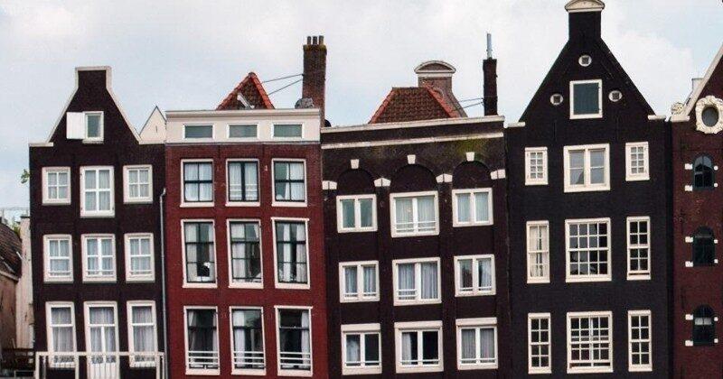 europe amsterdam narrow houses
