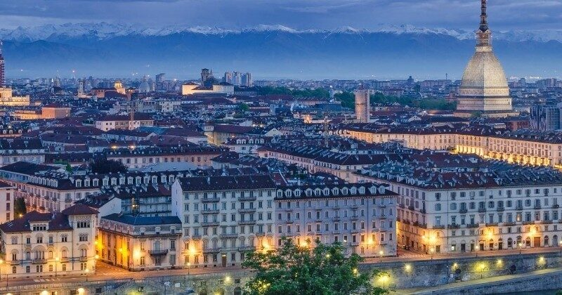 turin italy at night europe