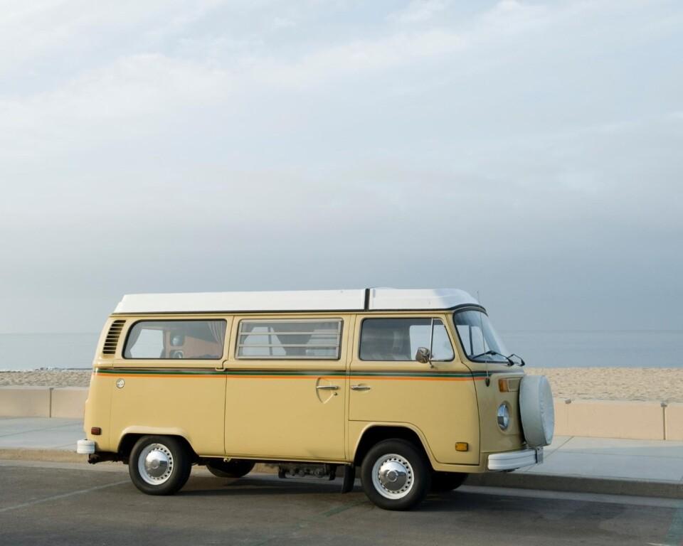 camper van by the beach