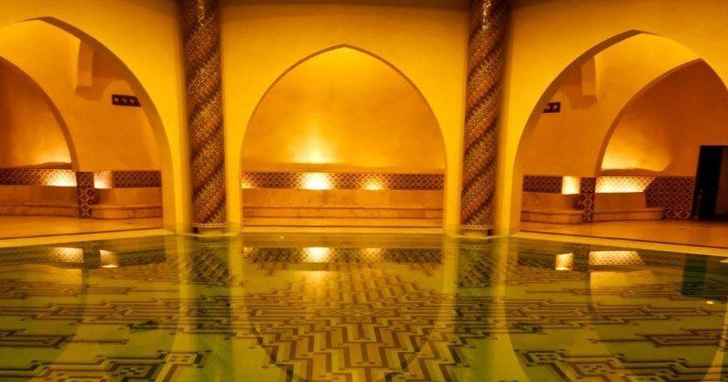 moroccan hammam pool