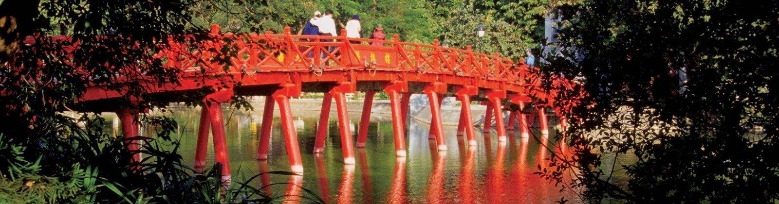 red bridge in hanoi vietnam