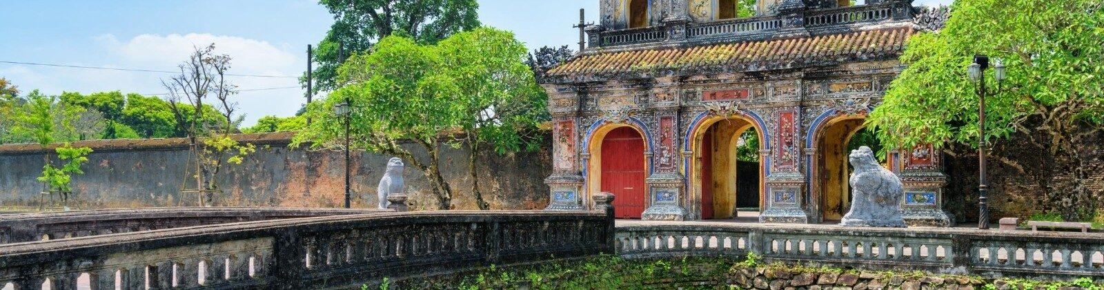 bridge in hue vietnam